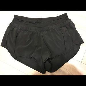 Lululemon Black Speed-up Shorts